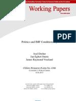 Dreher Vreeland Politics and IMF Conditionality