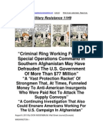 Military Resistance 11H9 a Criminal Ring