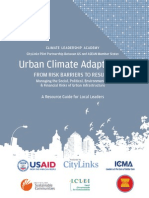 ASEAN Climate Leadership Academy, Urban Adapation