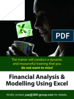 Financial Analysis & Modelling Using Excel