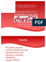 Analiza Site Coca-cola