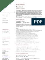 Supervisor CV Template