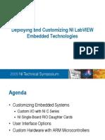 Ni Deploying Customizing Embedded Technologies