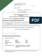 Sorat Kebenaran Law Ke JPN Kedah