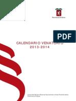 Calendario Venatorio 2013-2014