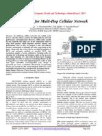 """""""FESCIM"""" for Multi-Hop Cellular Network"""