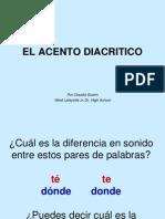 El Acento Diacritico2