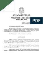 Projeto de lei do Senado 355/2012