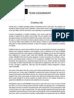 Assignment-Crawley Ltd FINA1221 FINAL-1