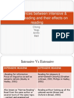 The Differences Between Intensive & Extensive Reading And
