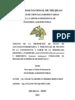 Efecto d La Proporcion d Pulpa d Aguaymanto Berenjena y Porcentaje de Pectina en La Consistencia y Sabor d La Mermelada