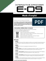 Roland E 09 Notice