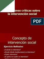 Reflexiones críticas sobre la intervención social. Sesión 1