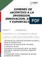 Regimenes de Incentivo a La Inversion, Innovacion