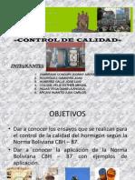 Control de la resistencia del hormigón