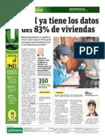 INEI Ya Tiene Los Datos Del 83 Por Ciento de Viviendas