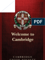 Cambridge Union Society Freshers' Guide 2013