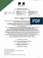 arrêté interpréfectoral d'ouverture d'enquêtes d'utilité publique concernant la ligne THT Cotentin-Maine