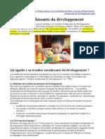 Troubles envahissants du développement (Troubles du spectre autistique)