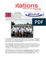 Newsletter 8.6.13