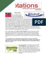 Newsletter 7.31.13