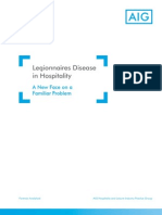 Legionnaires Disease in Hospitality