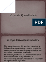 La acci+¦n Reivindicatoria 1