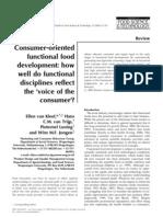 Consumer Oriented Functional Food Development