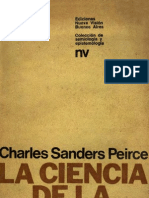 Peirce. La Ciencia de La Semiotica