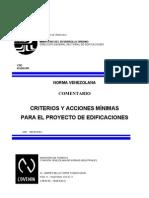 Covenin 2002-1988 Acciones Minimas Comentarios