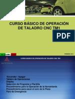CURSO BÁSICO DE OPERACIÓN DE TALADRO CNC TM1