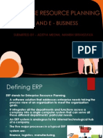ERP and E - BUSINESS(Aditya and Manish)
