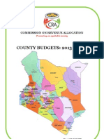CRA - County Budgets 2013-2014