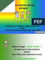 Colores de La Amistad Diapositivas