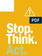 Stop Think Act Book