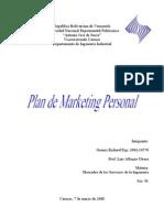 Plan de Marketing Personal