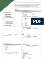 133168816 Examen Modelo de Matematica 1ero de Secundaria