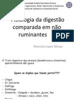 Fisiologia da digestão comparada em não ruminantes