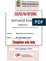 Second Distance Exam Elem 4