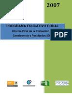 Informe Final Programa Educativo Rural Mexico