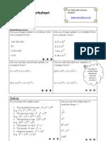 E1 Revision Worksheet
