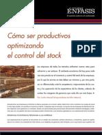 Cómo ser productivos optimizando el control del stock