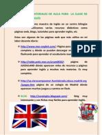 MATERIALES DE AULA PARA  LA CLASE DE INGLÉS