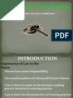 Laws in Nursing