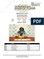 2013 Legends of Poker - Event 6 Results