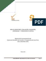 Informe Rendicion de Cuentas CARE Peru - Julio-Diciembre 2011