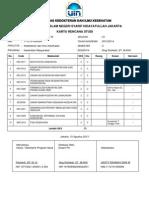 Kartu Rencana Studi S1 Semester 3 Kesehatan Masyarakat UIN Jakarta