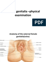 Female genitalia –physical examination