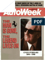 Aug. 22, 1988 Autoweek -- the death of Enzo Ferrari
