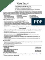 Sample Event Management resume
